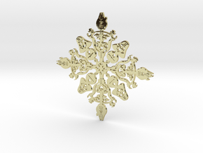 Star Wars Snowflake #1 in 18K Gold Plated