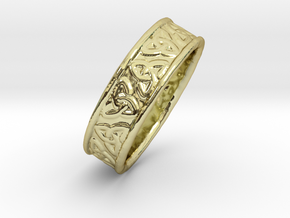 Celtic Triangles 16mm in 18K Gold Plated