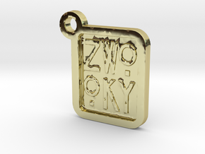 ZWOOKY Keyring LOGO 12 3cm 3mm in 18K Gold Plated