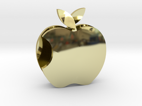 Apple pendant Love  in 18k Gold Plated Brass: Medium
