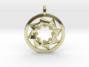 CIRCULAR Motion Designer Jewelry Pendant in 18K Gold Plated