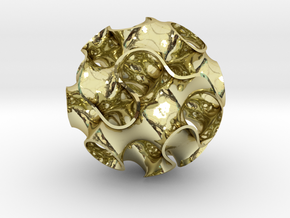 Small Gyroid in 18K Gold Plated