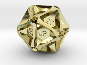Geometric d20 [Metals] (engraved) in 18K Gold Plated