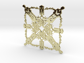 Doctor Who: Tenth Doctor Snowflake in 18K Gold Plated