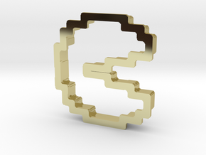 pixely pizza guy cookie cutter in 18K Gold Plated