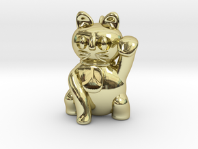 Manekineko pendant (A person is invited.) in 18K Gold Plated