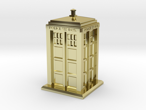 28mm/32mm scale Police Box in 18K Gold Plated