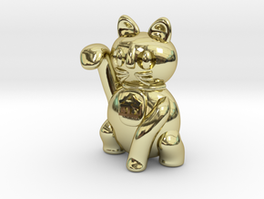 Manekineko luck with money pendant in 18K Gold Plated