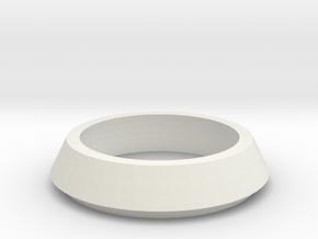 SX350 Simple Bezel V2 (short) in White Natural Versatile Plastic