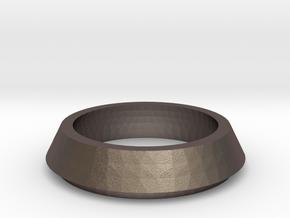 SX350 Simple Bezel V2 (short) in Polished Bronzed Silver Steel