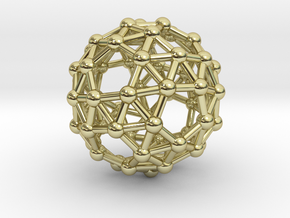 Snub Dodecahedron (left-handed) in 18K Gold Plated