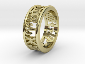 Constellation symbol ring 9.5 in 18K Gold Plated