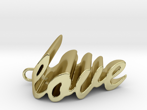 Love Heart Pendant - 25mm in 18K Gold Plated