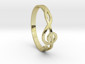 Size 6 G-Clef Ring  in 18K Gold Plated