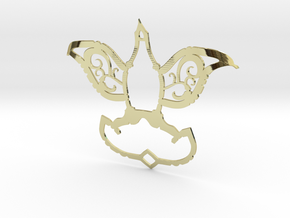 Dove/Flower Pendant  in 18K Gold Plated