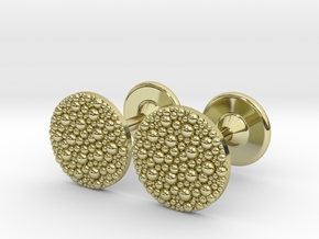 Granulated Cufflinks  in 18K Gold Plated