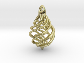 DNA Teardrop Pendant in 18K Gold Plated