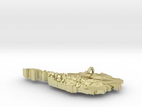 Austria Terrain Silver Pendant in 18K Gold Plated