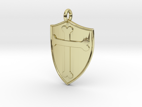 Medieval Shield Pet Tag / Pendant in 18K Gold Plated
