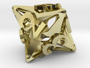 Pinwheel d8 in 18K Gold Plated
