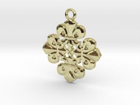 Fleur De Lis Pendant in 18K Gold Plated