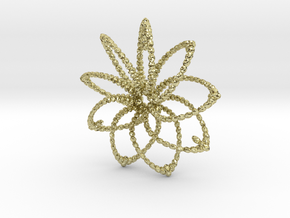 Cluster Funk 9 Points 5cm in 18K Gold Plated