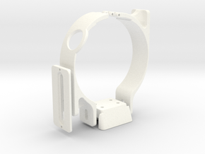 Vertical Plate Mount Set for Canon Lens (Double) in White Strong & Flexible Polished