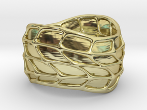 Panel Twist Ring (sz 5) in 18K Gold Plated