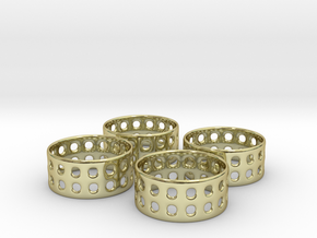 Double Bubble Napkin Rings (4) in 18K Gold Plated