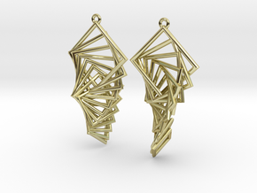 Arithmetic Earrings (Rhombus) in 18K Gold Plated