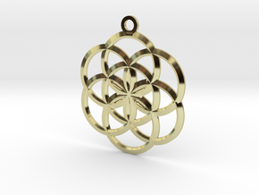 Seed of Life Pendant in 18K Gold Plated