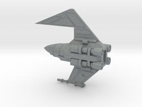 Davaab-type Mandalorian Fighter in Polished Metallic Plastic