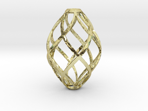 Zonohedron Pendant or Earring in 18K Gold Plated