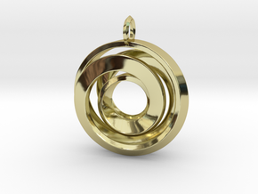 Single Strand Spiral Pendant in 18K Gold Plated