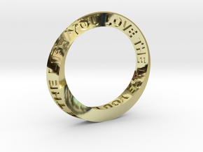 Live The Life You Love - Mobius Ring in 18K Gold Plated