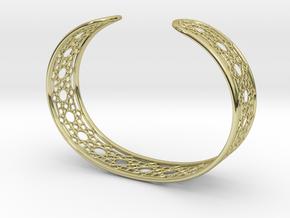 Intricate Geometric Pattern Cuff Bracelet in 18K Gold Plated