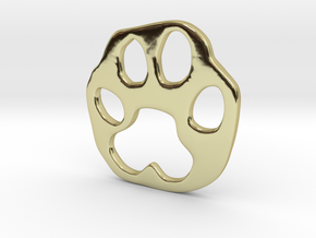 Bobcat paw print in 18K Gold Plated