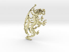 Dragon Pendant in 18K Gold Plated