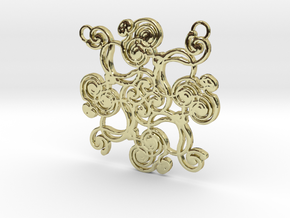 Swirl Pendant in 18K Gold Plated