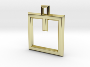 ABC Pendant - V Type - Wire - 24x24x3 mm in 18K Gold Plated