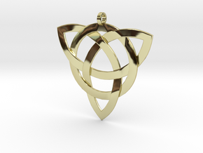 Large Celtic Knot Pendant (Inverted Triquetra) in 18K Gold Plated