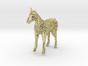 Unicorn Voronoi in 18K Gold Plated
