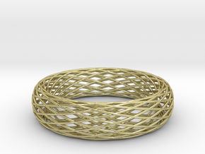 Toroidal Knot Bangle in 18K Gold Plated