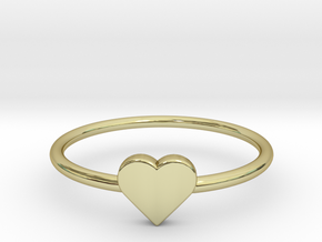 Knuckle Ring with heart, subtle and chic. in 18K Gold Plated