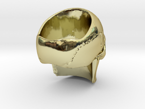 High Detail Skull Ring with Attitude (Men's or Wom in 18K Gold Plated