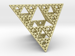 Sierpinski Tetrahedron level 4 in 18K Gold Plated