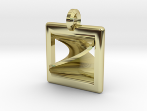 moebius square pendant in 18K Gold Plated