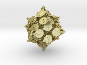 Player Order Die - 3D Print Only Version in 18K Gold Plated