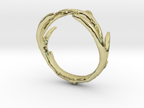 Antler Ring in 18K Gold Plated