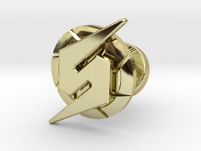 Metroid Symbol Cufflink in 18K Gold Plated